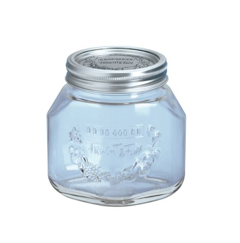 Leifheit Canning Supplies 3-1/4 Cup Glass Preserving Jars, Set of 6
