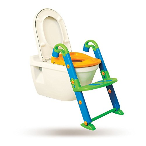 KidsKit 3 in 1 Potty Training Seat For Boys + Girls | Potty Seat With Sturdy Non-Slip Ladder, Toilet Seat Reducer & Portable Potty