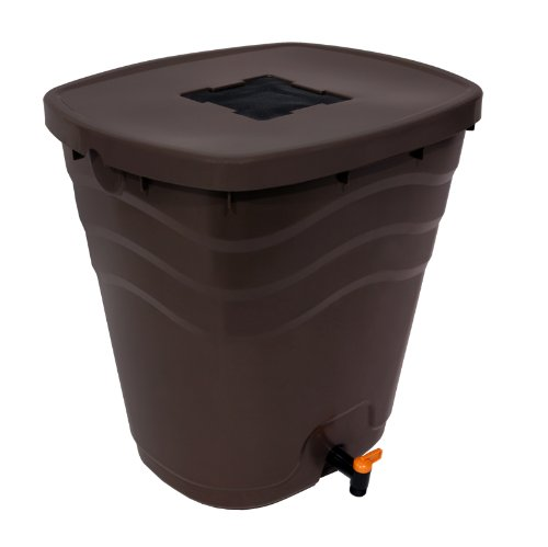 Fiskars 5992 Saguaro 26.5 Gallon Rain Barrel, Chocolate Brown