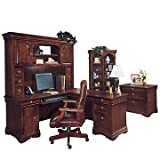 Chocolate Patina Finish Executive Office Suite