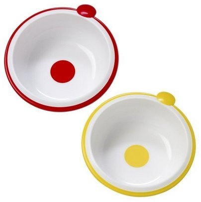 Dr. Brown'S Feeding Bowls - 2 Pieces (Red-Yellow) front-509897