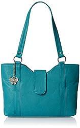 Butterflies Women's Handbag (Blue) (BNS 0298SBL)