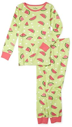 Hatley Girls 2-6x Watermelons Polo Pajama Set,Multi,7