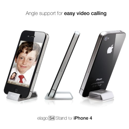 elago S4 aluminum Stand for AT&T and Verizon iPhone 4 (Silver)