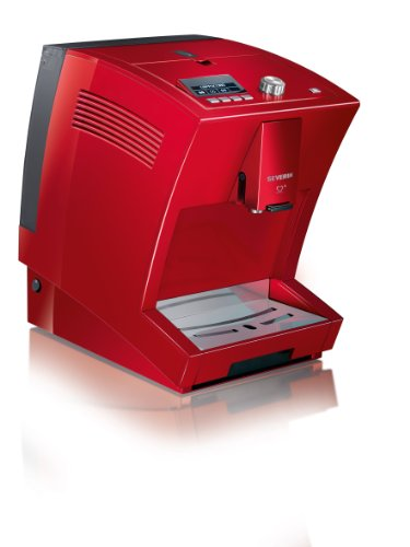 Severin S2 + Kv8025 One Touch Automatic Coffee Machine Red Espresso front-261804