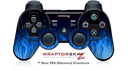 Sony PS3 Controller Skin - Fire Blue