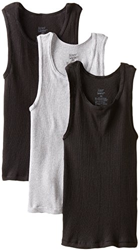Hanes Big Boys' Dyed Tank, Assorted, Small