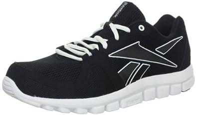 Reebok Men's Your Flex Run 4.0 Running Shoe,Black/White,10 M US