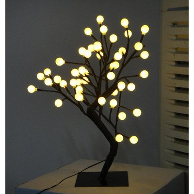 Creative Motion Height Desk Top Led Ball Tree, 17.71-Inch, White