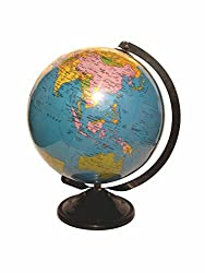 Globeskart Star Educational Laminated Desk and Table Top Political World Globe / Desk Globe / Political Globe / Study Globe / 8 inches