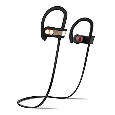 BluetoothHeadphones,HonstekH9WirelessHeadsetwithMic-PremiumSoundwithCVC6.0NoiseReductionTechnology-ErgonomicDesign-Waterproof-BluetoothV4.1-UniversalCompatibility-8HrsPlaytime