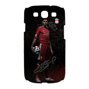 Steven Gerrard Samsung Galaxy S3 Case, Steven Gerrard - Liverpool FC Samsung Galaxy S3 I9300/I9308/I939 White Plastic 3D Case Cover, Personalized, Cool, Unique and Retro Style Phone Case at customstyle, sports, personalised, cool, fashion phone case by cu