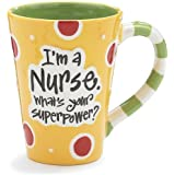 "Burton & Burton-Nurse 12 Oz Coffee Mug/Cup With ""I'M A Nurse"" What's Your Super Power?"""