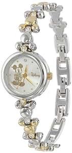 Disney Mickey Mouse Women's MCK313 Two-Tone Link Bracelet Watch