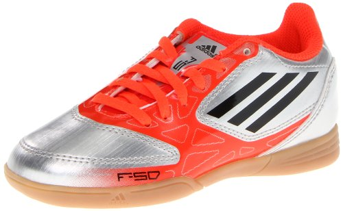 Adidas F5 In Soccer Cleat Metallic Silver Infrared Black 1