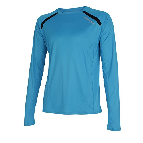 Diadora Ls T-Shirt Team Maglia da Running, Uomo, Blu Fluo, S