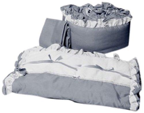 Baby Doll Regal Port-a-Crib Set, Grey - 1