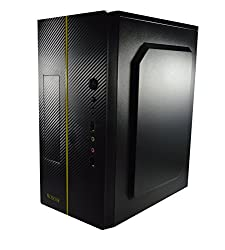 TECH-COM Professional Mid Range (with 450 SMPS) Cabinet/Case For Desktop and PC (Yellow)