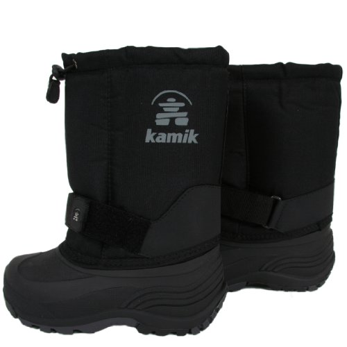 Kamik Rocket Snow Boots for Toddlers and Kids - CH 11 - BLACK