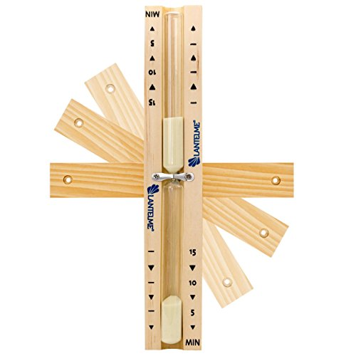 Sauna-Sanduhr-Analog-Holz-Buche-15-Minuten-drehbar