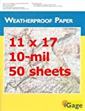 "iGage Weatherproof Paper 11""x17"" - 50 Sheets"