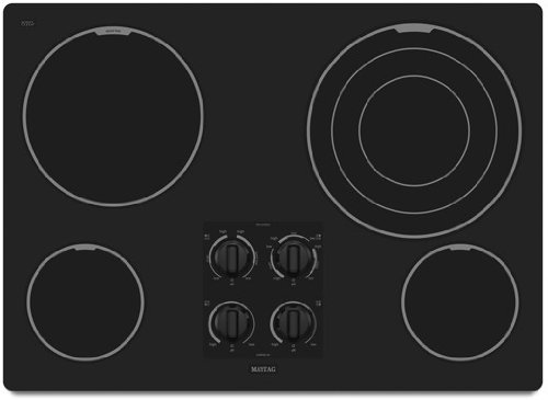 Maytag MEC7630WB 30 Smoothtop Electric Cooktop - Black
