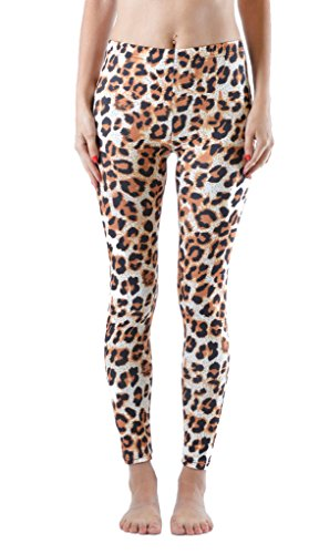 Dinamit Fashion Women'S Printed Form Fitting Pant Leggings Leopard Print L front-567683