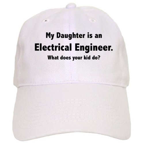 Cafepress Electrical Engineer Daughter Cap - Standard White