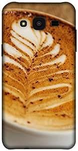 The Racoon Lean printed designer hard back mobile phone case cover for Samsung Galaxy J5. (cafe leaf)
