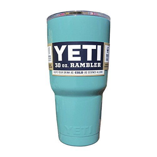 YETI Coolers Rambler Tumbler, Stainless Steel, 30oz, One Size (Teal Green)