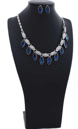 Sapphire Blue Glass Marquise-Cut 18