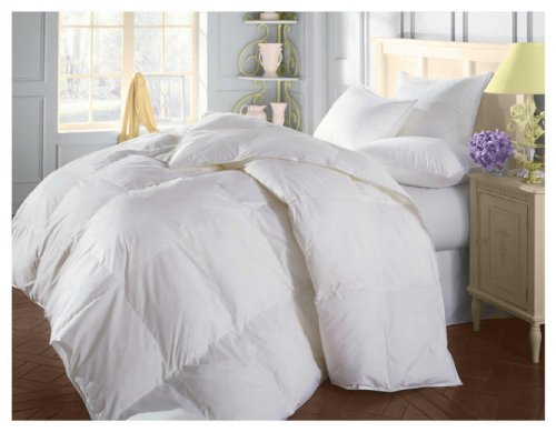 Natural Comfort Soft and Luxurious 310TC Sateen White Down Alternative Duvet Insert, Oversize Queen