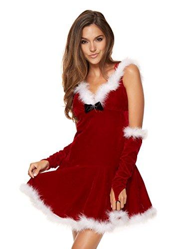 Ann Summers size-16/18Rosso con cappuccio Miss Santa Costume per le donne