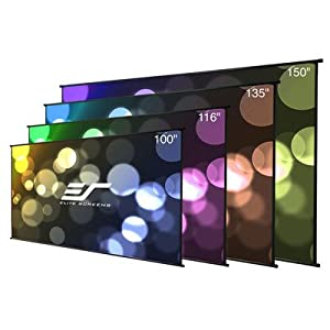 Elite Screens DIY Wall Series, 116-inch Diagonal 16:9, Do-It-Yourself Indoor & Outdoor Projection Screen, DIYW116H2