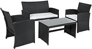 4pc Outdoor Garden Cushioned Seat Sofa Set