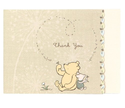 C.R. Gibson Thank You Note Card, Classic Pooh,