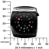 01TheOne Unisex Lightmare Red LED Black Rubber Watch #L202R3