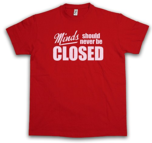 MINDS SHOULD NEVER BE CLOSED T-SHIRT - Fun Indie Hipster Yoga Capitalism Taglie S - 3XL