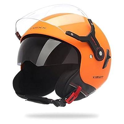 NEXX X60 Vision - Casque jet Moto/Scooter orange