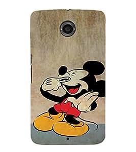 EPICCASE Funny mouse Mobile Back Case Cover For Motorola Google Nexus 6 (Designer Case)