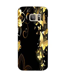 SAMSUNG GALAXY S7 BUTTERFLIES Back Cover by PRINTSWAG