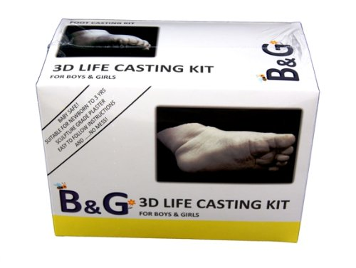 B&G 3D Life Casting Kit FOOT - 12 months to 3 years - up to 12 cm