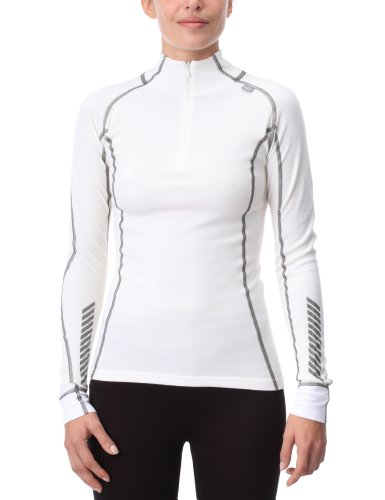 Helly Hansen Women's Warm Freeze Half Zip Baselayer Top - White, Large