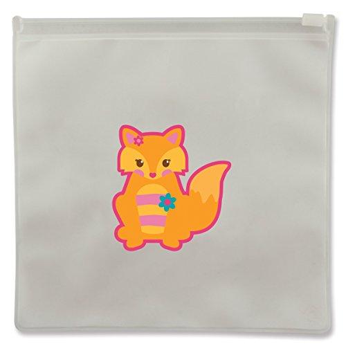 Stephen Joseph Fox Reusable Snack Bags, Clear - 1