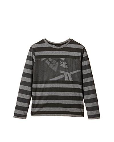Mexx Camiseta Manga Larga Gris Jaspeado