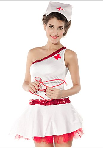 RANOGI Women's Sexy Nurse Costume Halloween Cosplay Costumes