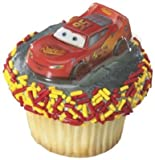 24 ct - Disney's Cars Lightning McQueen Cupcake Plac Toppers