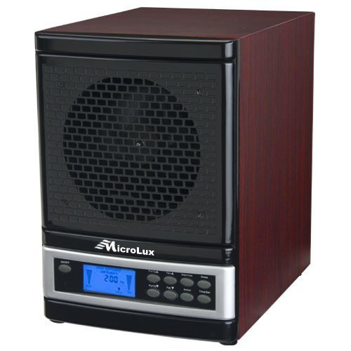 MicroLux ML4000DCH 7-Stage UV Ion Air Purifier with Remote, Cherry Wood Finish by MicroLux