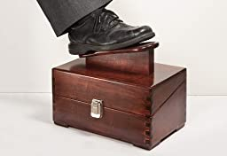 Diamond Resource 8196 Solid Wood Shoe Shine Kit with Accessories