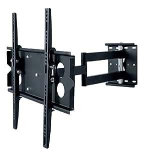 """Allcam Medium Arm TV Bracket Universal for 37"""" 40"""" 42"""" 46"""" 50"""" 55"""" LED/LCD/Plasma TVs Wall Mount (Pull-out, Swivel, Tilt) in Black"""